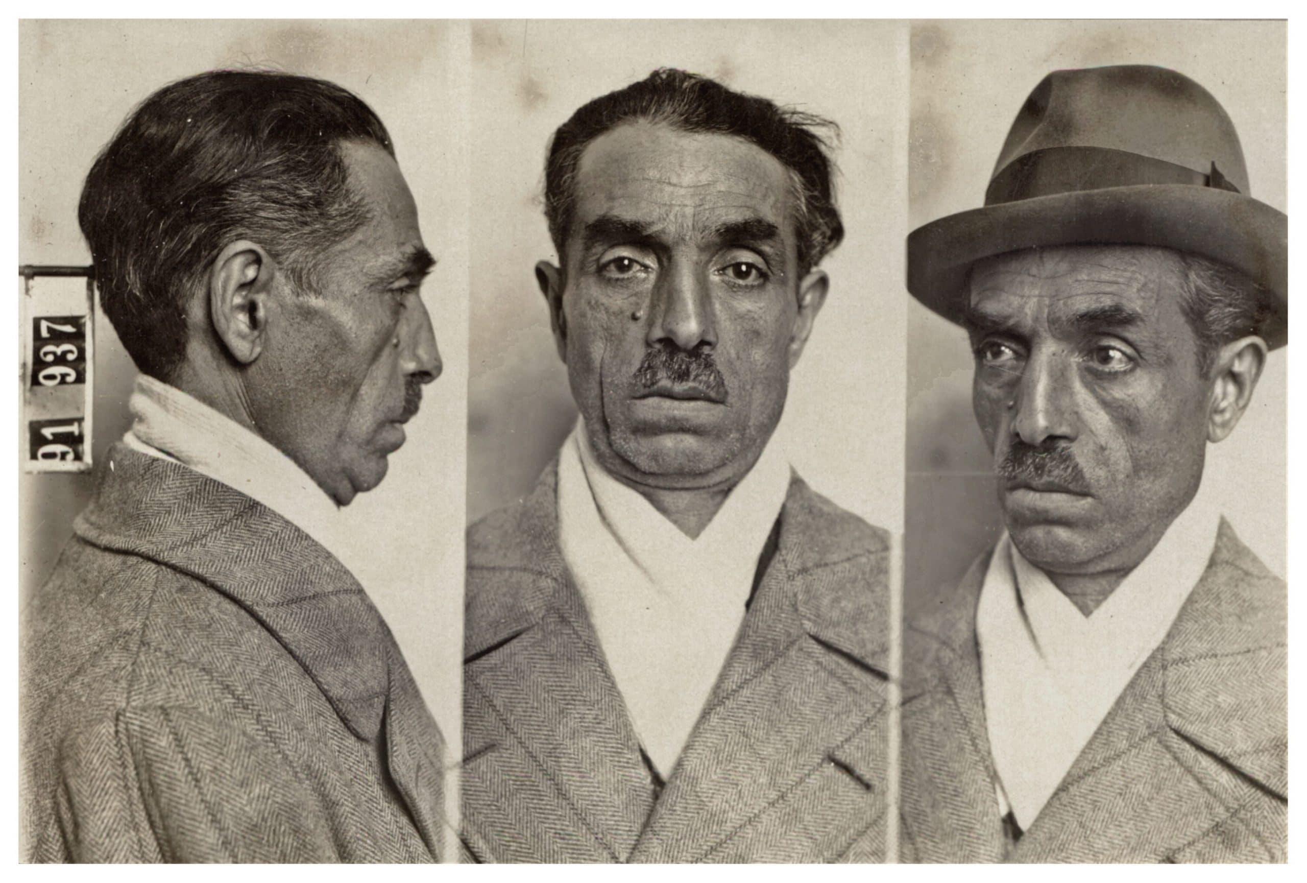 Arturo Sardelli, foto dalla scheda della polizia politica