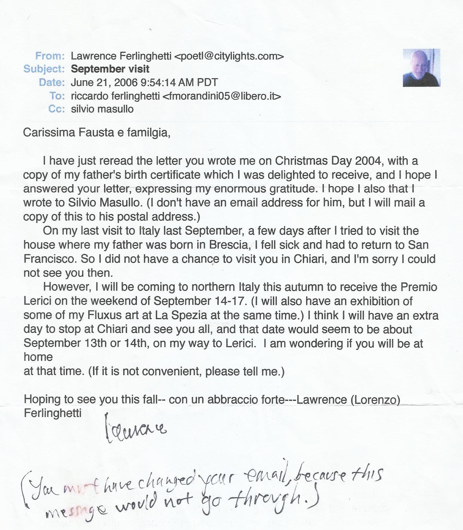 Silvio Masullo Lawrence Ferlinghetti Patria Anpi