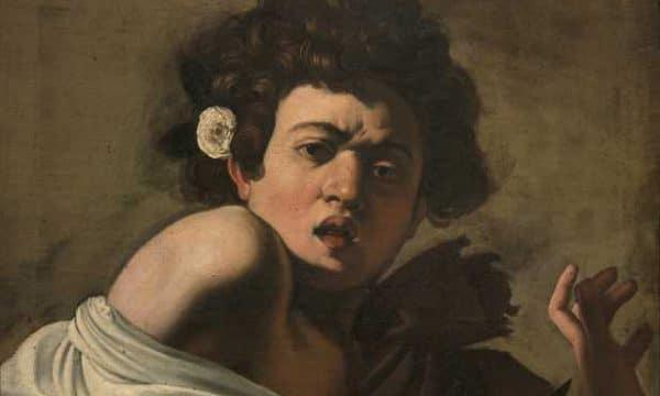 Caravaggio, Ragazzo morso da un ramarro (dettaglio), 1597