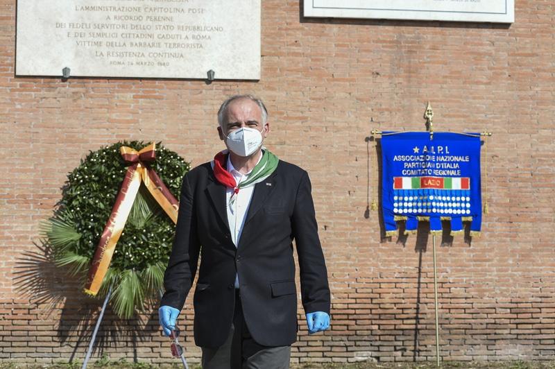 Il presidente del comitato provinciale Anpi Roma e coordinatore Anpi Lazio, Fabrizio De Santis (foto Imagoeconomica)
