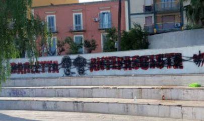 Barletta, il murale dedicato ai fratelli dedicato ai fratelli partigiani Pietro e Ruggiero Vitrani, deturpato con spray di colore nero