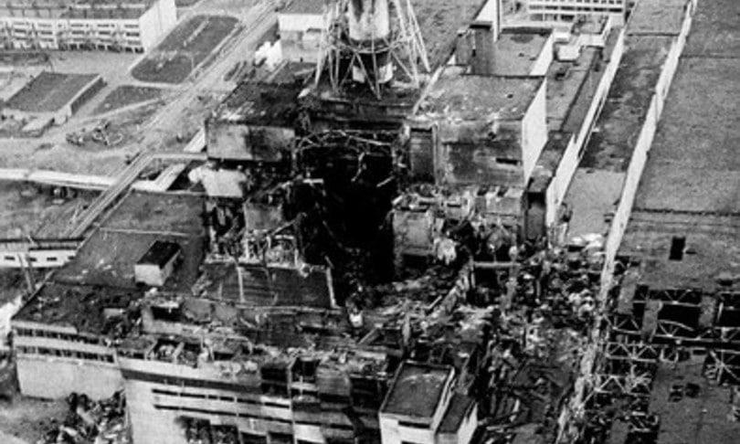La centrale nucleare di Chernobyl dopo la catastrofe del 26 aprile 1986