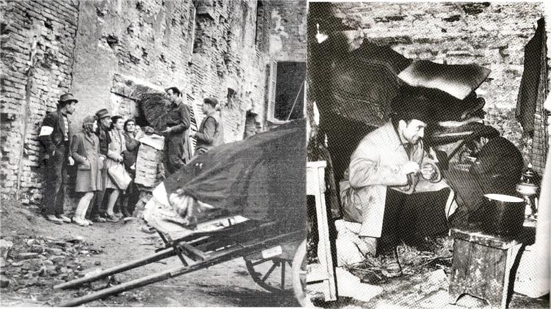 Foto storiche dei rifugiati al Convento di San Francesco durante la seconda guerra mondiale