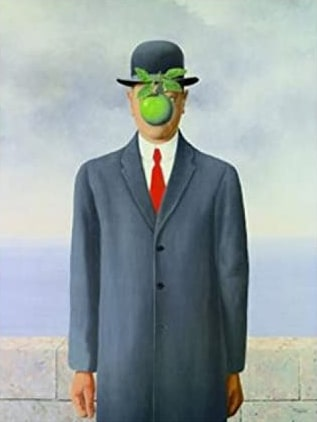 Rene Magritte–Son of Man poster stampa
