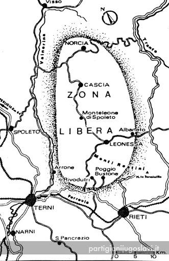 mappa zona libera cascia e norcia