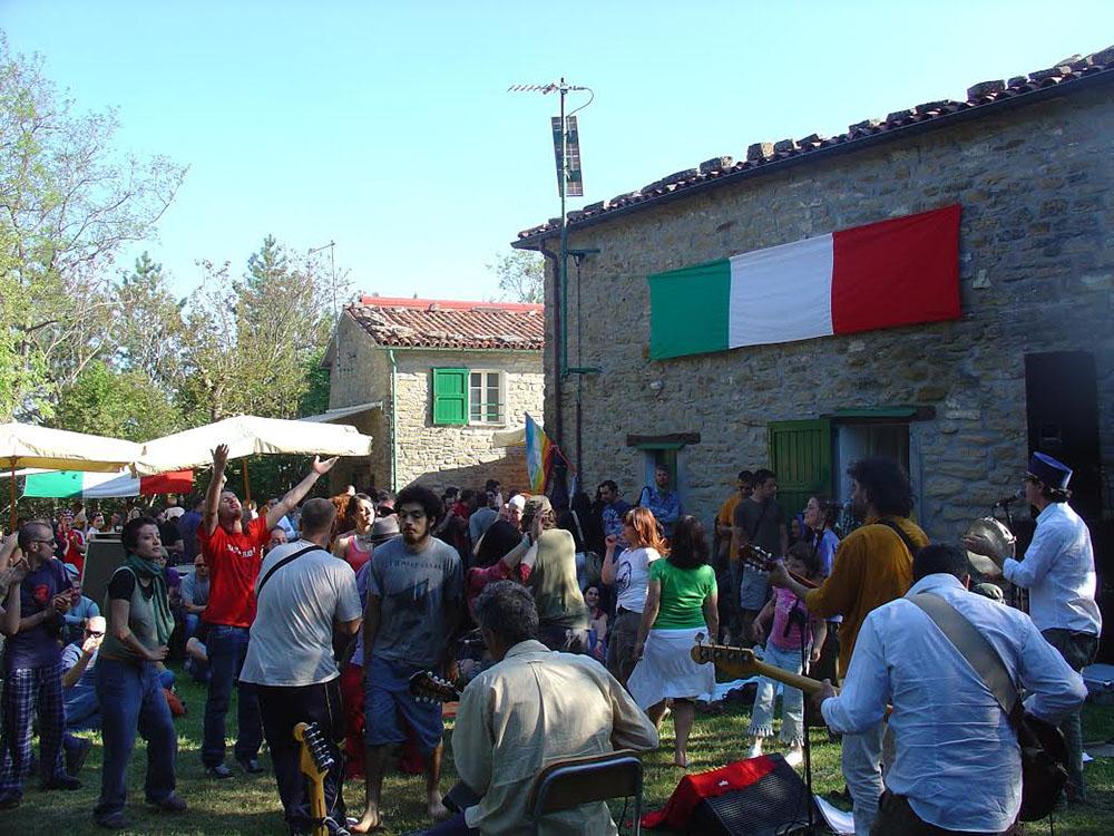 Una festa a Ca' di Malanca qualche tempo fa