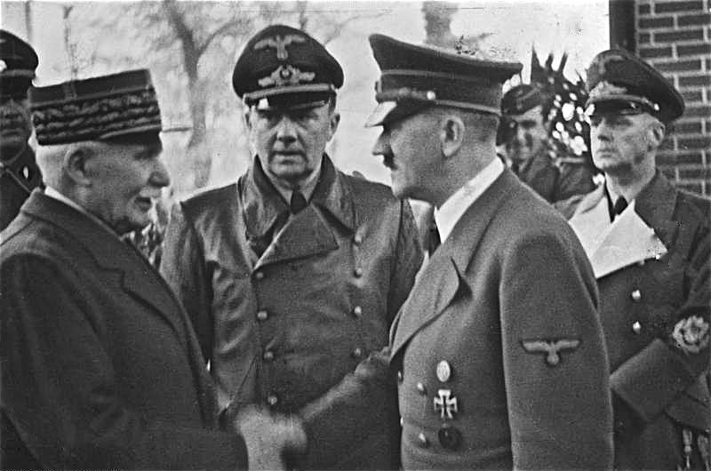 1940: Pétain con Hitler