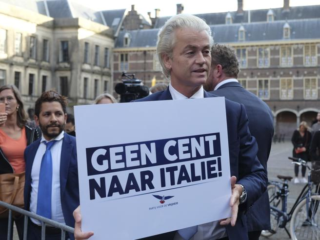 "Geert Wilders: ""Non un centesimo all'Italia!"""