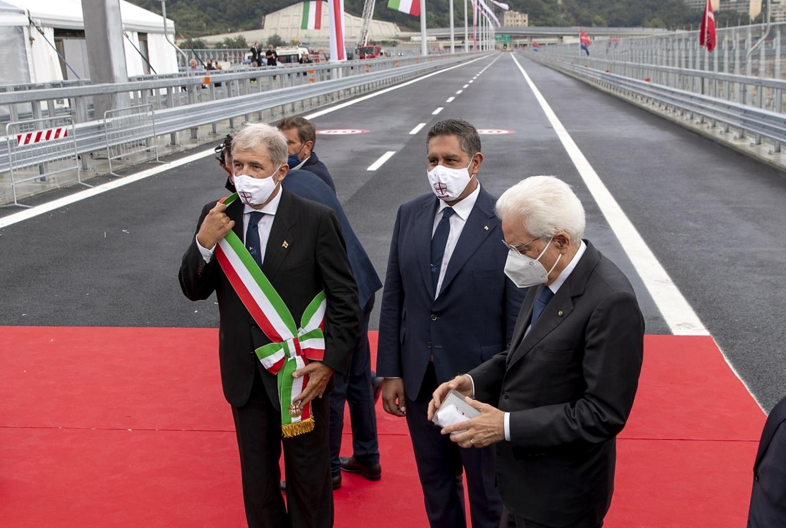 Mattarella a inaugurazione nuovo ponte Genova