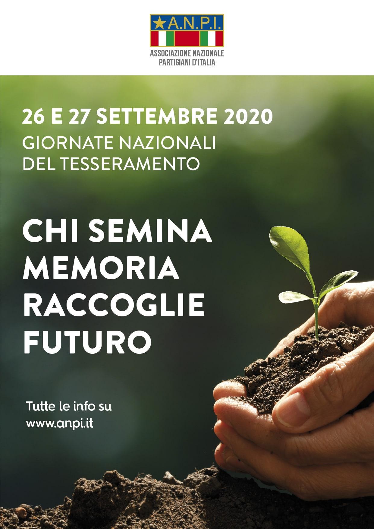 Manifesto giornate tesseramento Anpi 2020
