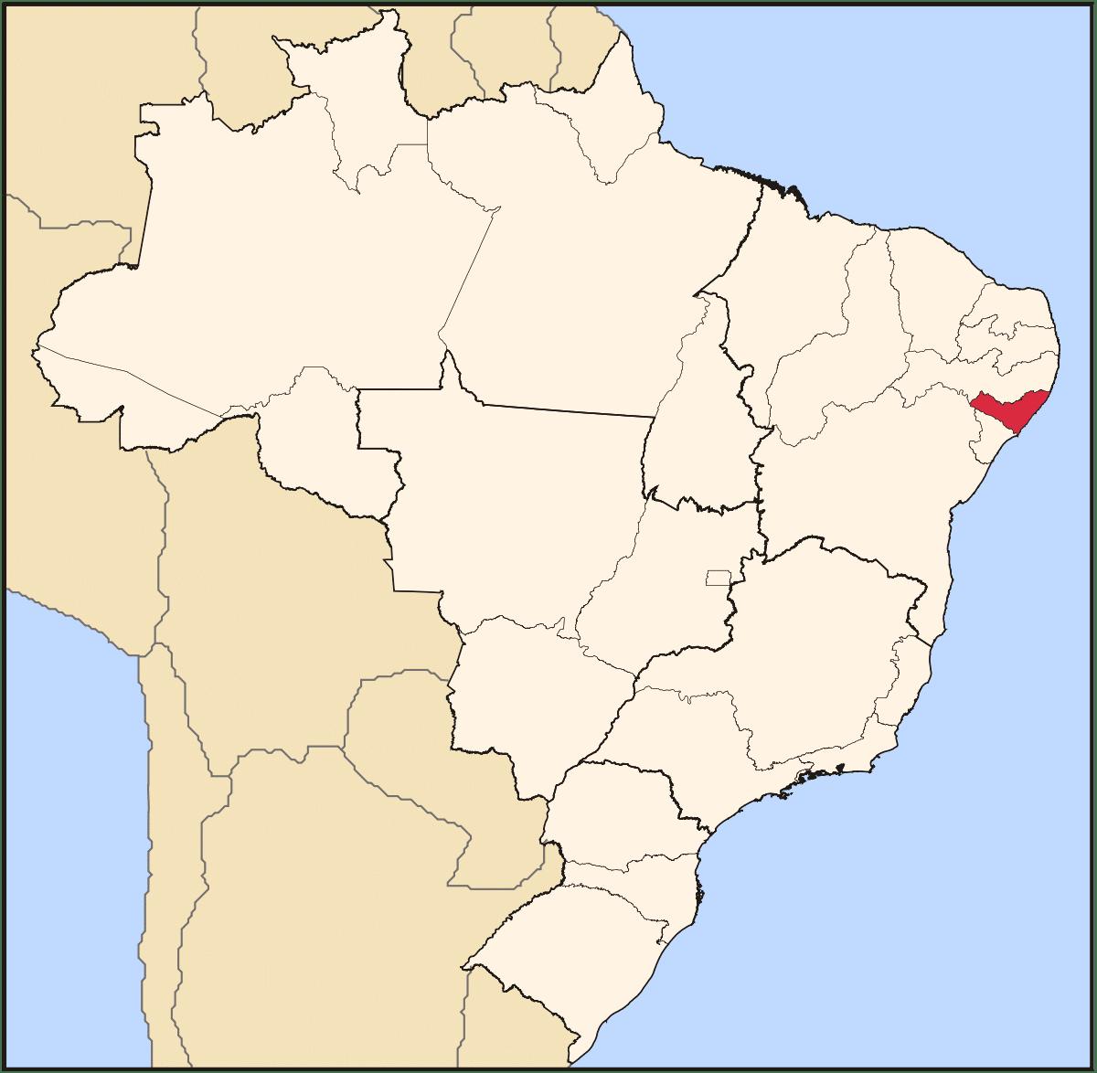 Quilombo dos Palmares, dove sorse la comunità di schiavi fuggiti nel Brasile coloniale. Si trovava nella Capitaneria di Pernambuco, oggi nello stato brasiliano di Alagoas