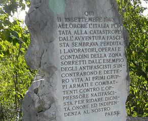Il cippo a Selz in memoria della Brigata Proletaria